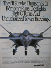 12/1992 PUB ROSEMOUNT AEROSPACE AIRCRAFT PRODUCTS SENSORS SYSTEMS ATF FIGHTER AD