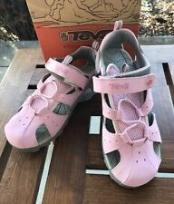 Teva Girls Closed Toe Soft Pink Water Sandals  NEW Girls Size 6