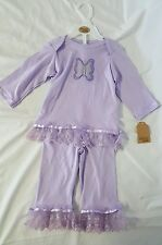 Chick Pea 9 Mnth. Little Girl's Purple Pants & Top/outfit