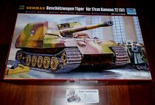 WWII GERMAN TANK TANK ARTILLERIE voiture Tiger 17 cm Canon 72 1:35 TRUMPETER 00378