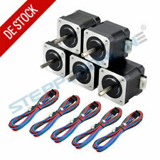 5PCS Nema 17 Schrittmotor (Stepper Motor) 45Ncm 1,5A 4 Draht für 3D Drucker DIY