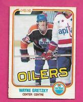 1981-82 OPC # 106 OILERS WAYNE GRETZKY GOOD CARD (INV# D1149)