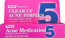 Benzoyl Peroxide 5 % Generic for Oxy Balance Acne Medication Gel 1.5oz Each