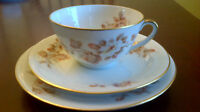 Limoges Tea Cup and Saucer and Dessert Plate