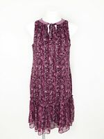 White House Black Market Purple & Pink Printer Trapeze Dress Size Small NWT