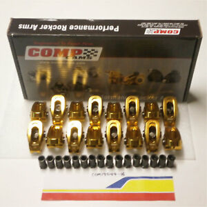 """Comp Cams 19044-16 Rocker Arm Ultra Gold Arc Small Block Ford 7/16"""" 1."""