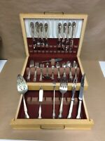 Vintage William Rogers IS Silver Plated Silverware Set In Box W/ Serving Pieces