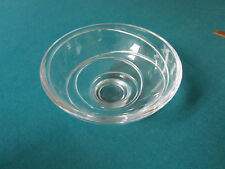 Jasper Conran AURA by Wedgwood FOOTED CRYSTAL BOWL MARKED SIGNED 3 X 6""