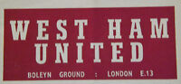 West Ham United Home Programmes V Opponents N-W *Select from list*