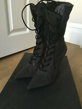 YEEZY LACE UP ANKLE BOOTS SEASON SIX GRAPHITE SIZE 6 UK