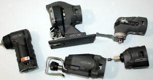 RIDGID 12-18v JobMax Right Angle Drill, Cutter Head, Recip Saw, Multi, Jig Saw