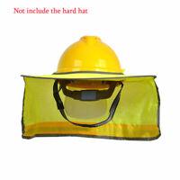 Full Brim Hard Hat Sun Shade Helmet Neck Shield Construction Safety ANSI