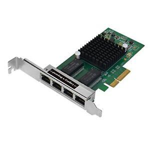 SIIG Quad-Port Gigabit Ethernet PCIe 4-Lane Card - I350-T4 Adapter, LB-GE0114-S1