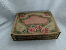 Antique Victorian Embosssed Paper on Cardboard Box