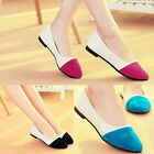Fashion Womens Sedue Leather Flat Shoe Ballet Slip On Flats Loafers Ladies Shoes