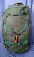 "Samsonite Canvas Bag 30"" Rolling Light Weight Soft Expandable Green Luggage"