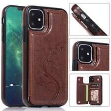 For iPhone 11 Pro Max XS XR 8 Plus 7 6s Pattern Leather Wallet Stand Case Cover