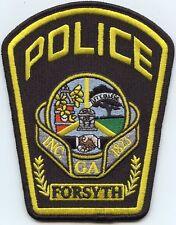 FORSYTH GEORGIA GA POLICE PATCH