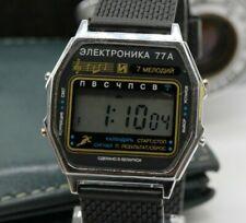 Vintage Men's Watch Elektronika 77A Chrono Digital Melody Alarm Calendar Signal