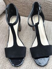 Ladies sandals Clarks Somerset 5D Black Leather/Suede/Patent IMMACULATE