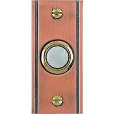 Lighted Doorbell Button Solid Brass Antique Copper door bell Groove design