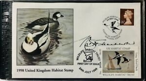 The United Kingdom Duck Stamp 1998 - Long-tailed - Artist Signed FDC - Booklet