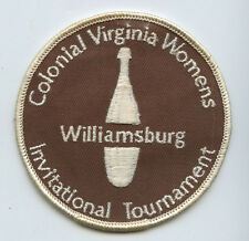 60s Colonial Williamsburg Virginia Womens Invitational Tournament Bowling Patch