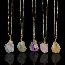 Natural Large Quartz Crystal Stone Chakra Healing Gemstone Pendant Necklace Gift