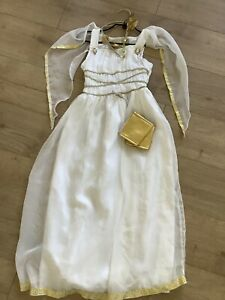 Child Greek Roman Goddess Costume Girls Kids Fancy Dress Up Outfit Book Day 7-8