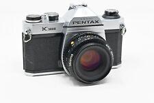 Pentax Asahi K1000 35mm SLR Camera W/ 50mm f/2 Lens and Fresh Batteries (#B3)