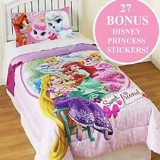 PALACE PETS TWIN COMFORTER STICKER SET Sweet Friends Cinderella Rapunzel Bedding