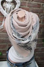 XXL écharpe rayé franges écharpe Plaid à carreaux étole poncho rose écharpe