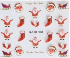 Accessoire ongles : nail art , scrapbooking - Stickers autocollants Noël