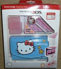 NINTENDO 3DS ORIGINAL OFFICIAL CONSOLE GAME CASE STYLUS NEW Lot Blue Hello Kitty