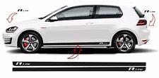 VW Golf V-VII R Line Autostreifen Seitenstreifen Aufkleber Set für 3 & 5 Türer