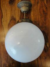 Deckenlampe Jugendstil Kugellampe Antik Messing Deckenleuchte Glas Kugel Edel