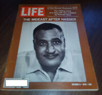 Life Magazine bagged/boarded October 9 1970 - The Mideast After Nasser, more