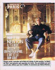 COUPURE DE PRESSE CLIPPING 1992 HELMUT NEWTON (3 pages)
