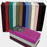 """16"""" DEEP BOX  PERCALE FITTED SHEETS EASY CARE  ALL SIZE ,16 COLOURS AVAILABLE"""