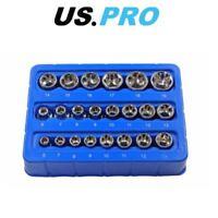 "BERGEN Super-Lock Shallow Socket Set 22pc 1/4"" 6-13mm & 3/8"" 6-19mm 1398"