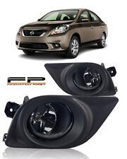 For 2012 2013 2014 Nissan Versa 4Dr Sedan Clear Fog Lights Full Complete Kit