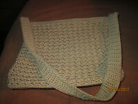 Very Nice Beige *The Sak*  Crochet Knit Shoulder  Handbag Purse