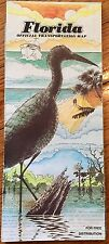 Florida Official Road Map 1982 Attractions Advertising Governor Bob Grayham