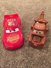 Disney Pixar Cars Talking with sounds Lightning McQueen and Tow Mater