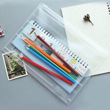 A4 A5 Plastic Zipper Bags File Document Folder Bag Pouch Stationery Organizer
