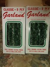 Vintage Christmas tinsel garland Two Guys department store NIB Each 10 ft
