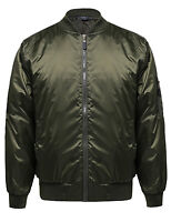 FashionOutfit Men's Classic Basic Air Force Flight Zipper Details Bomber Jacket