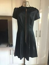 Cue Black Satin Business Formal Work City Dress 10