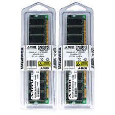 256MB 2 x 128MB SD Desktop Modules 133 SDRam 168 pin 168-pin SD Memory Ram Lot