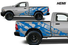 Vinyl Decal Graphic HEMI Wrap Kit for 09-14 Dodge Ram 1500/2500/3500 MIDBOX Blue